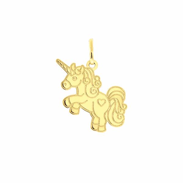Pingente de Ouro 18K Unicórnio