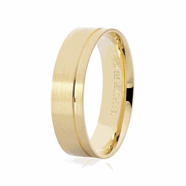 Aliança Ouro 18K Anatômica Fosca 5,5mm