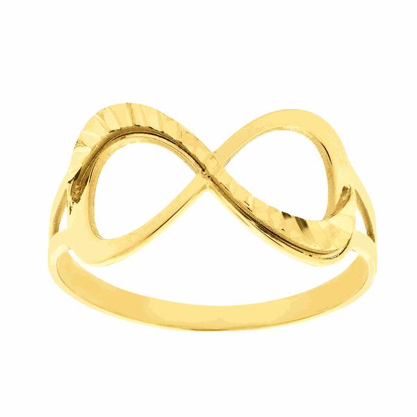 Anel Símbolo do Infinito em Ouro 18K Diamantado