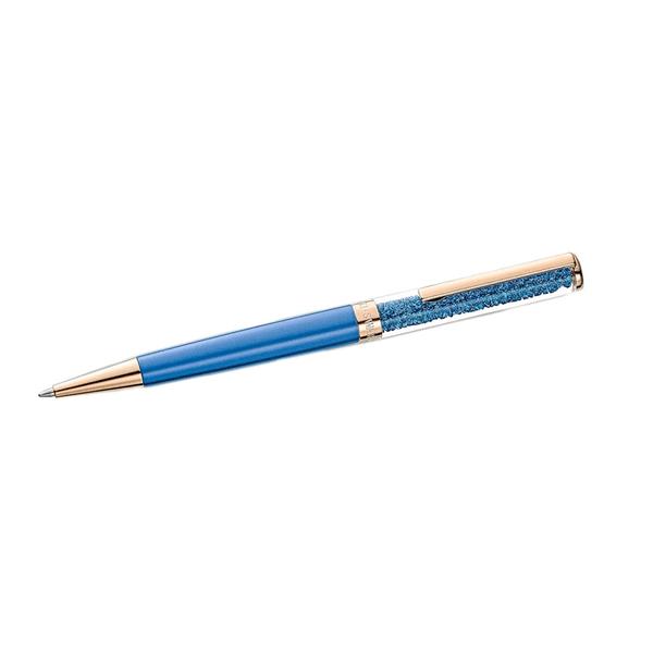 Caneta Swarovski Crystalline Rosé e Azul Marinho
