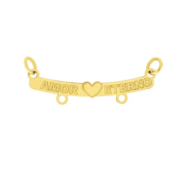 Pingente Canga de Ouro 18K Amor Eterno