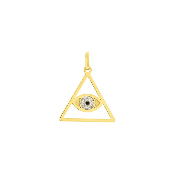 Pingente de Ouro 18K Olho que Tudo Vê ou Olho da Previdência