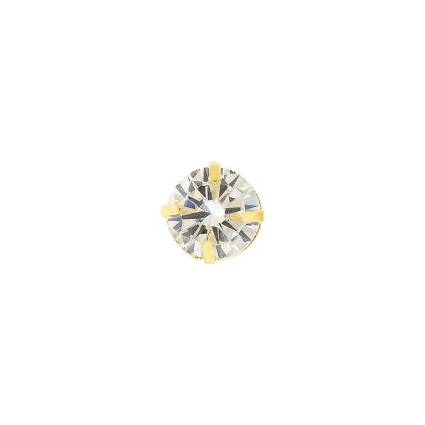 Pingente Ponto de Luz Zircônia Ouro 18K 6mm