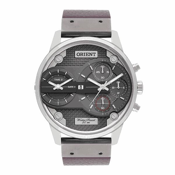 Relógio Orient Masculino XL Couro Cronógrafo