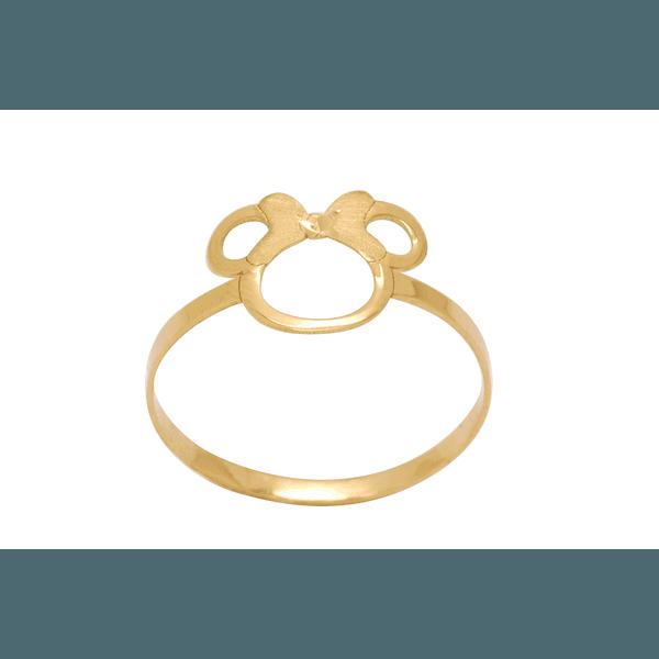 Anel Minnie Ouro 18K
