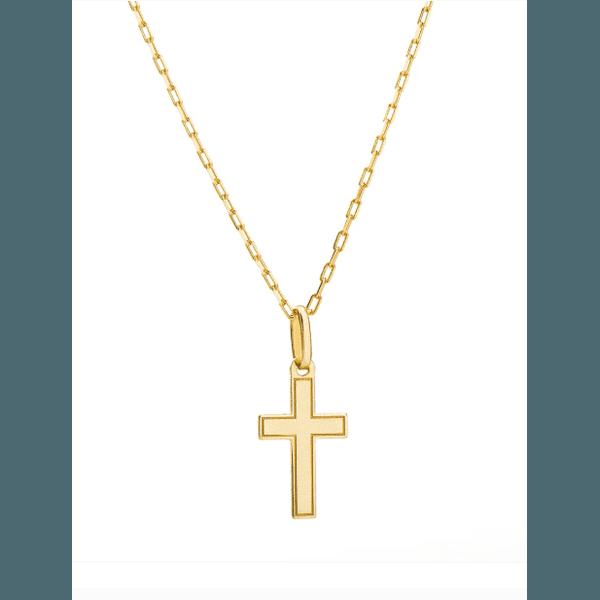 Corrente Cartier com Pingente Cruz Ouro 18k