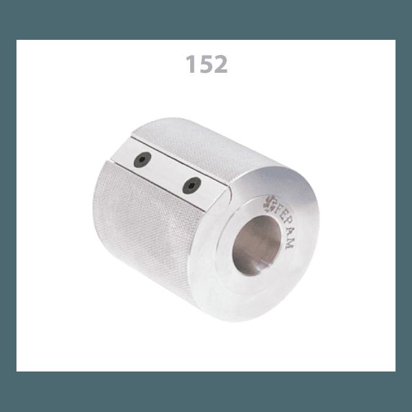 Cabeçote porta Lixa em Alumínio Diâmetro 80 mm x Altura 80 mm
