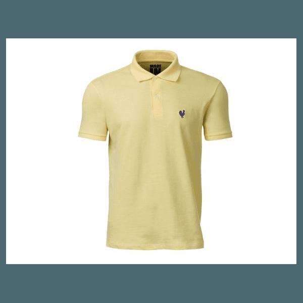 Camisa Polo Masculina Made In Mato Amarela