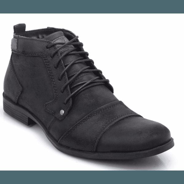 Bota Coturno Masculino Casual Top Franca Shoes Preto