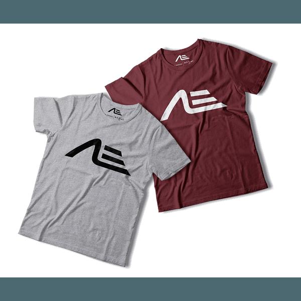 Kit 2 Camisetas Masculina Adaption Cinza/bordo