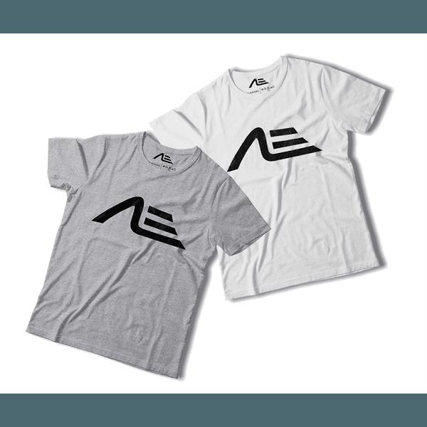 Kit 2 Camisetas Masculina Adaption Cinza/branca