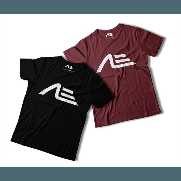 Kit 2 Camisetas Masculina Adaption Preta/bordo