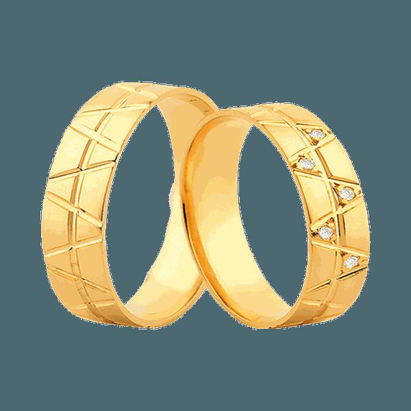 Aliança Ouro Amarelo 18k