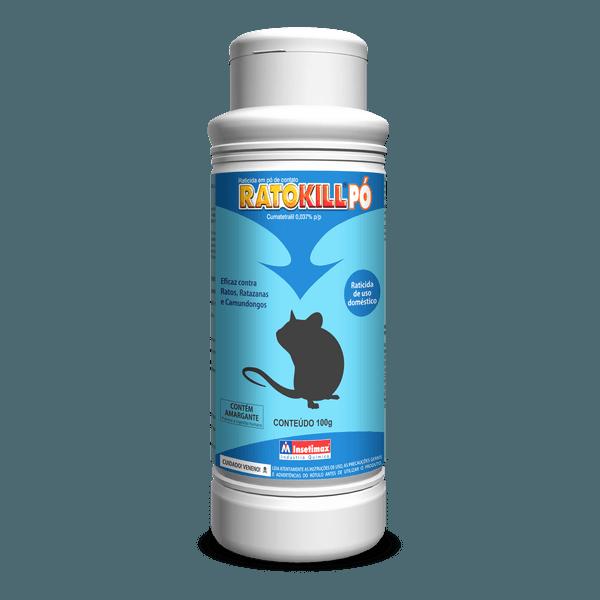 Raticida em pó Ratokill 100g - Insetimax