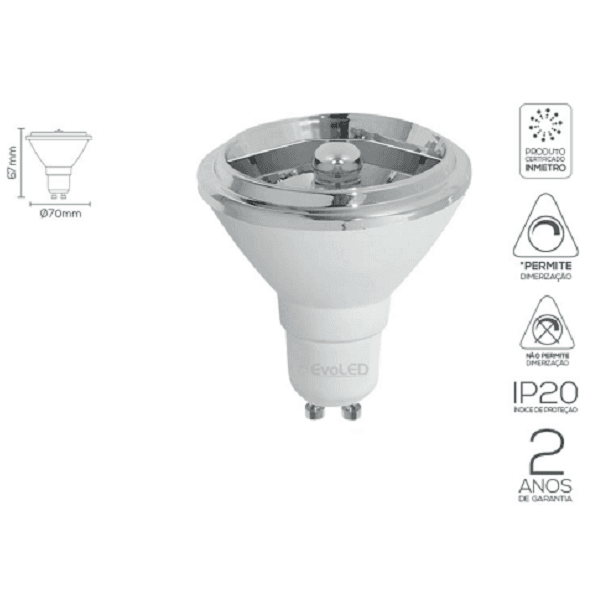 LÂMPADA LED AR70 12º, 24º 4,8W | EVOLED