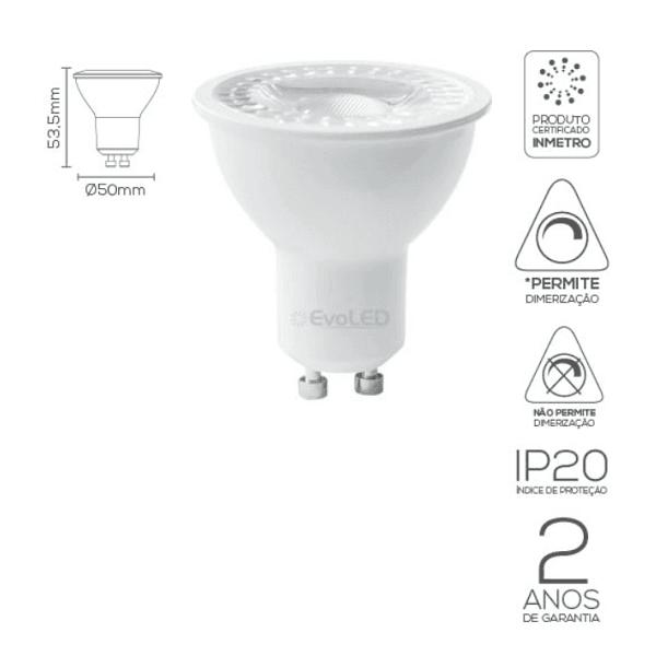 LÂMPADA LED DICROICA MR16 GU10 4,8W-36º, 7W-40º | EVOLED
