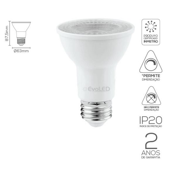 LÂMPADA LED PAR20 36º 7W | EVOLED