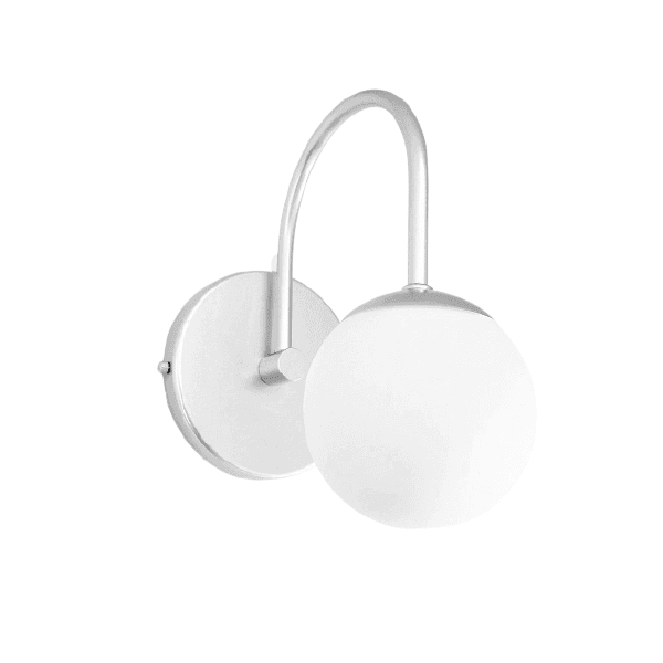 Arandela Luminária de Parede Jabuticaba-Alamin LE15/1P-Prata