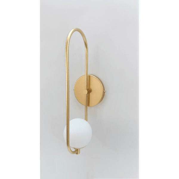 Arandela Luminária de Parede Jabuticaba Alamin- LE21/1M-Dourado