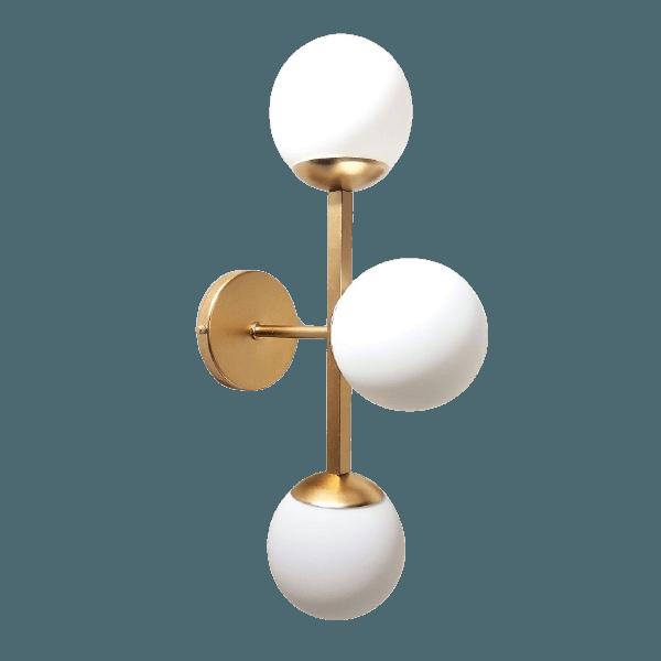 Arandela Luminária de Parede Jabuticaba Alamin-LE26/3G Dourado
