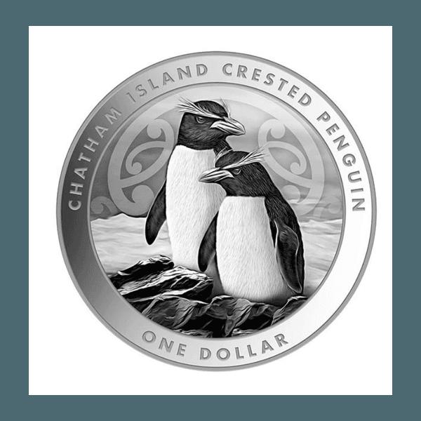 2020 New Zealand Crested Penguin 1 oz Silver BU