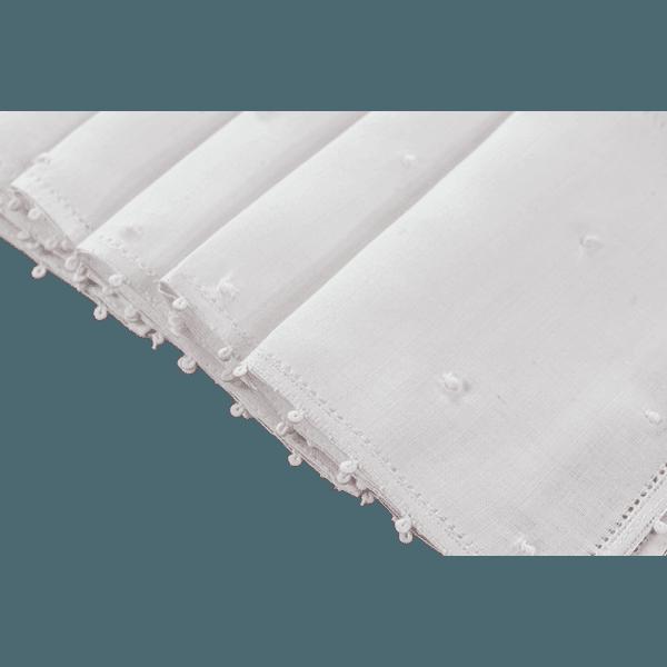 Set Guardanapo de Coquetel Cambraia Poás Branco