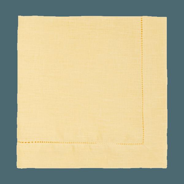 Guardanapo Cambraia de Linho Amarelo Claro
