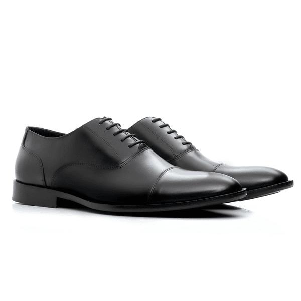 Sapato Oxford Masculino de Couro Preto