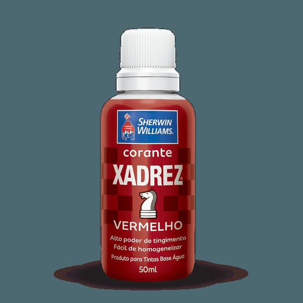 XADREZ CORANTE LÍQUIDO VERMELHO 50ML