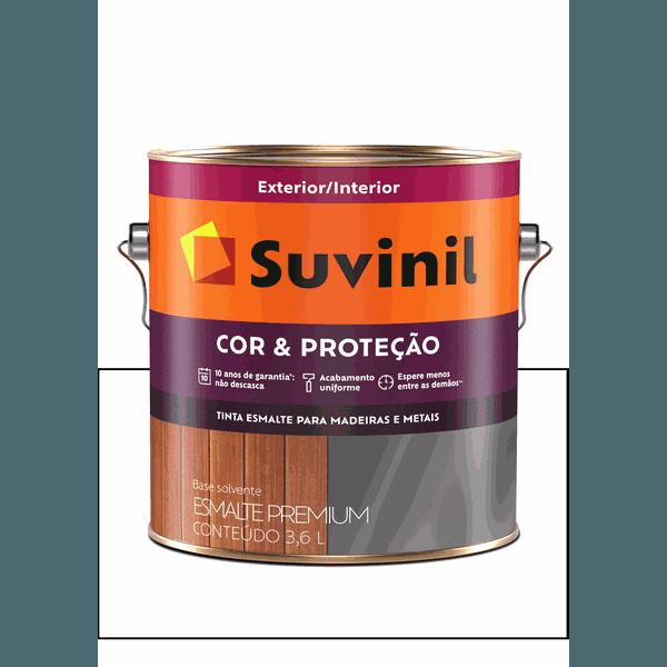 SUVINIL ESMALTE COR E PROTEÇÃO ACETINADO BRANCO 3,6L