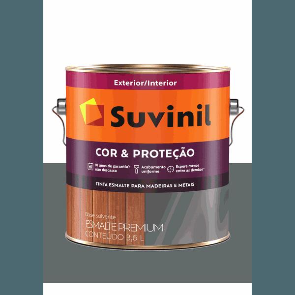 SUVINIL ESMALTE COR E PROTEÇÃO BRILHANTE CINZA ESCURO 3,6L