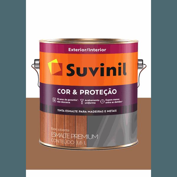 SUVINIL ESMALTE COR E PROTEÇÃO BRILHANTE MARROM CONHAQUE 3,6L
