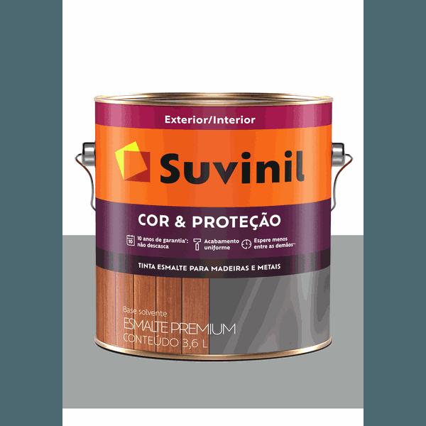 SUVINIL ESMALTE COR E PROTEÇÃO ACETINADO PLATINA 3,6L