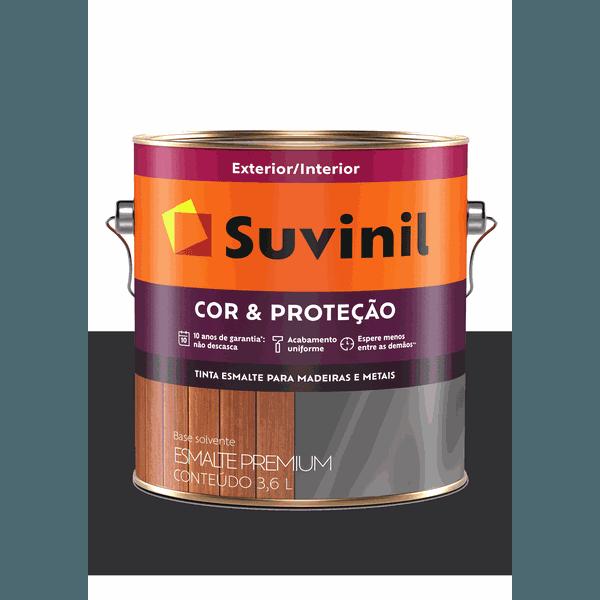 SUVINIL ESMALTE COR E PROTEÇÃO FOSCO PRETO 3,6L