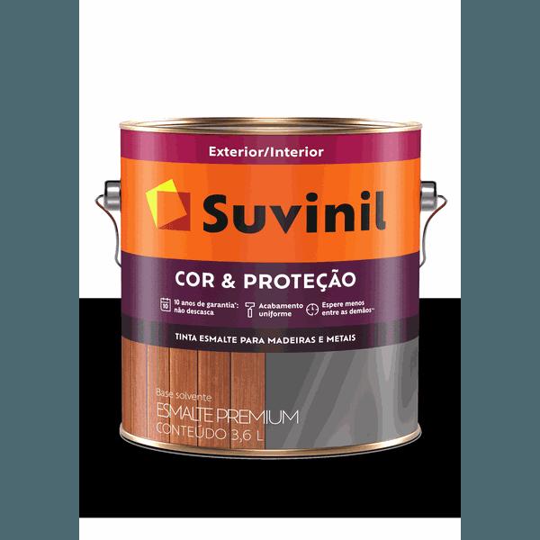 SUVINIL ESMALTE COR E PROTEÇÃO BRILHANTE PRETO 3,6L