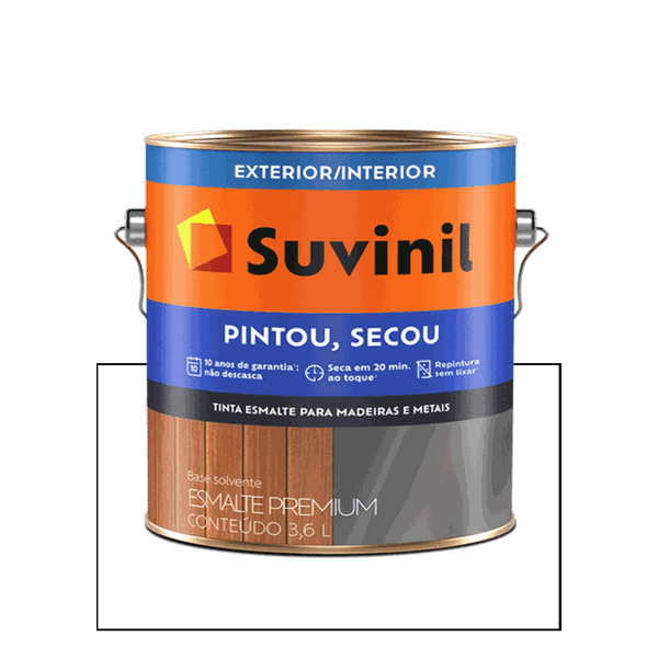 SUVINIL ESMALTE PINTOU SECOU BRANCO 3,6L
