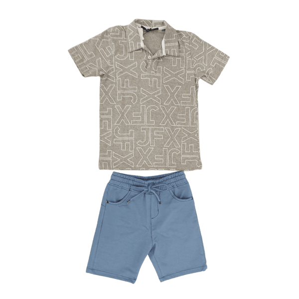 Conjunto Camiseta Polo e Bermuda Johnny Fox