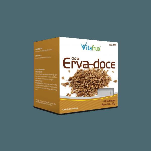 Chá de Erva Doce 10 Sachês Vitafrux