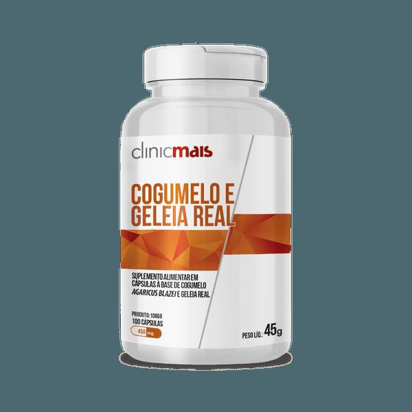 Geleia Real e Cogumelo 450mg - 100 Cápsulas - Clinic Mais