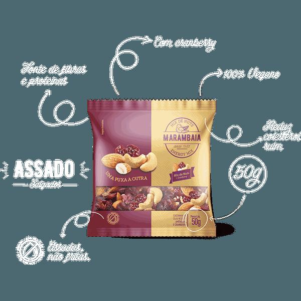 Mix De Nuts Amêndoa, Castanha De Caju E Cranberry 50g