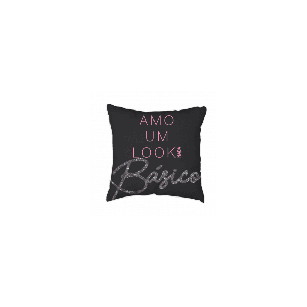 Almofada - Girl Power Preta