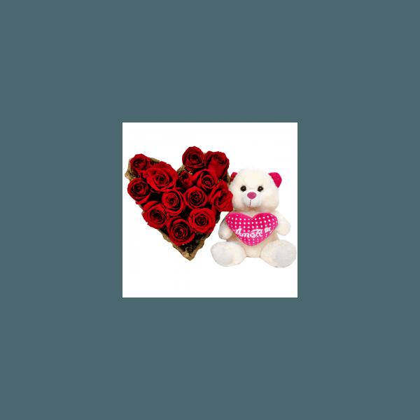 Coração de Rosas e Pelúcia