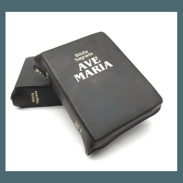 Bíblia Ave Maria - Zíper BOLSO Marrom