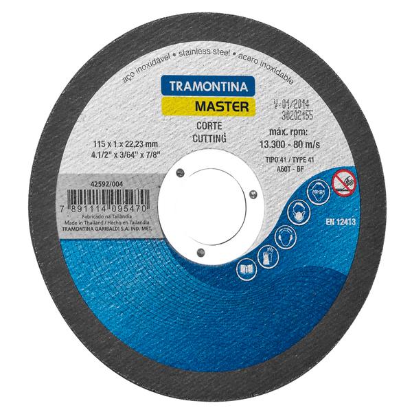 """Disco De Corte Para Aço 4 1/2"""" Tramontina 42592/004"""