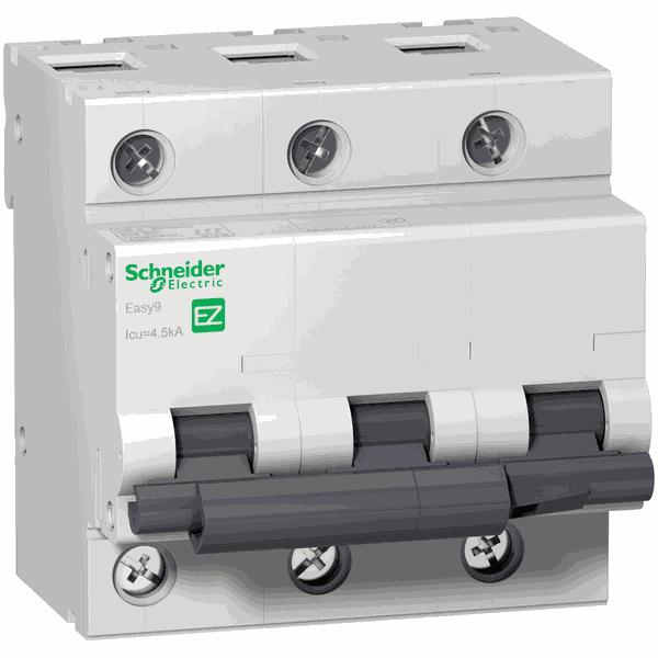 Disjuntor Termomagnético 3P 80A C 3Ka 400V - EZ9F33380 - SCHNEIDER