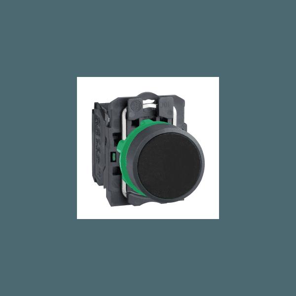 Botão 22mm Plástico Pulsador Preto 1NA XB5AA21 Schneider