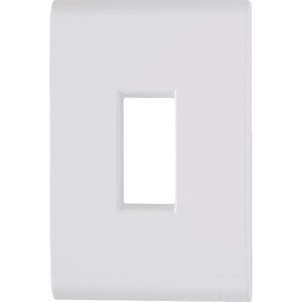 Placa 4x2 com 1 Posto Vertical Branco LIZ - Tramontina