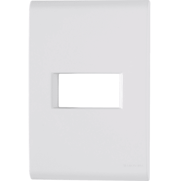 Placa 4x2 com 1 Posto Horizontal Branco LIZ - Tramontina