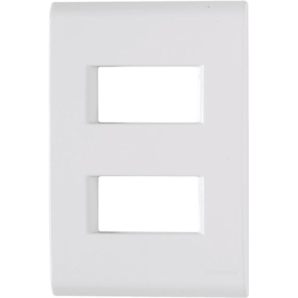 Placa 4x2 com 2 Postos Afastados Branco LIZ - Tramontina