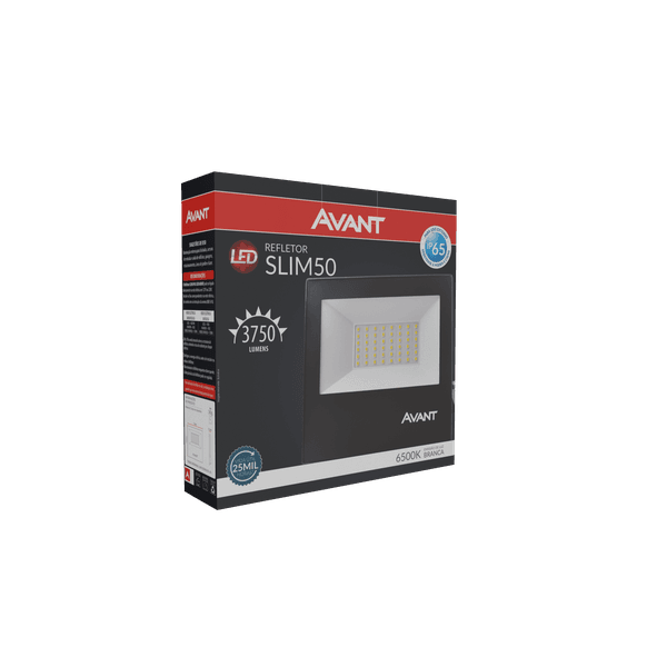 Refletor Led 50W Branco 6.500k Bivolt
